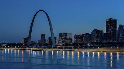 Photograph - St Louis At Night by Susan Rissi Tregoning