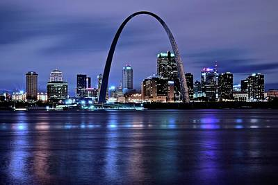 Photograph - St Louis Black N Blue by Frozen in Time Fine Art Photography