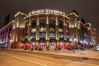 Baseball Royalty-Free and Rights-Managed Images - St Louis Busch Stadium  by John McGraw