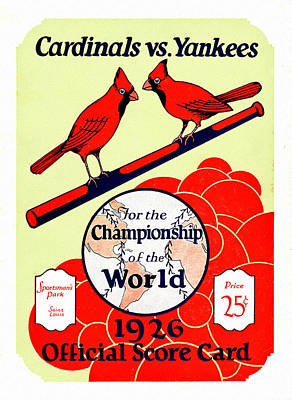 Busches Painting - St. Louis Cardinals 1926 World Series Program by Big 88 Artworks