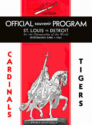 Busches Painting - St. Louis Cardinals 1934 World Series Program by Big 88 Artworks