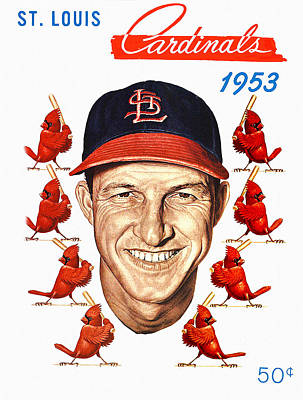 Busches Painting - St. Louis Cardinals 1953 Yearbook by Big 88 Artworks