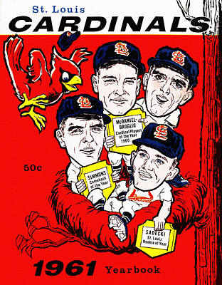 Busches Painting - St. Louis Cardinals 1961 Yearbook by Big 88 Artworks