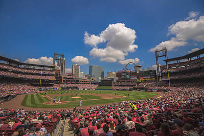 Photograph - St. Louis Cardinals Busch Stadium Creative 14 by David Haskett