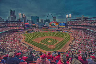 Photograph - St. Louis Cardinals Busch Stadium Creative 15 by David Haskett