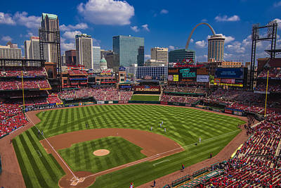 Photograph - St. Louis Cardinals Busch Stadium Creative 16 by David Haskett