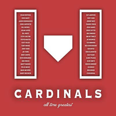 St. Louis Cardinals Art - Mlb Baseball Wall Print Art Print by Damon Gray