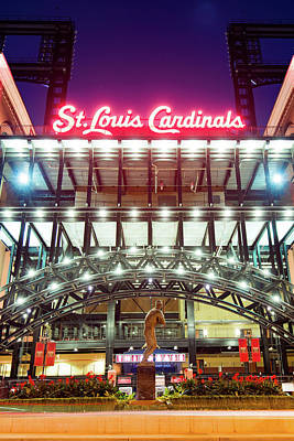 Photograph - St. Louis Cardinals Stadium - World Champs by Gregory Ballos