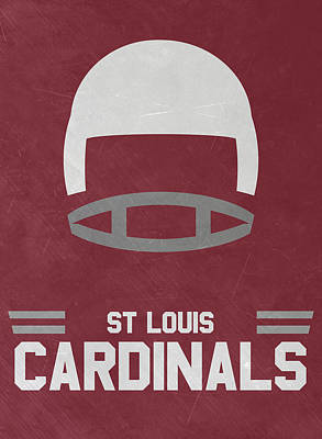 Football Mixed Media - St Louis Cardinals Vintage Art by Joe Hamilton