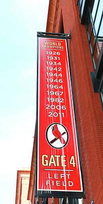Photograph - St. Louis Cardinals World Champions Banner by Allen Beatty