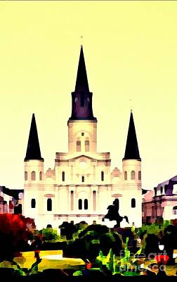 Photograph - St Louis Cathederal by Janice Spivey