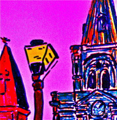 St. Louis Cathedral Abstract Art Print by John Giardina
