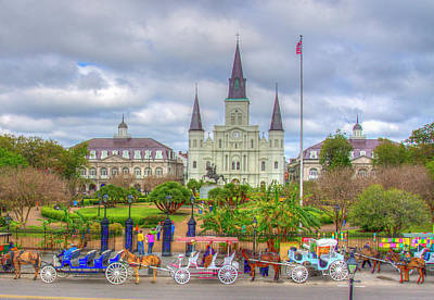 Digital Art - St. Louis Cathedral by Don Schiffner