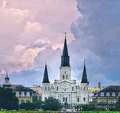Photograph - St. Louis Cathedral French Quarter  by Paul Wilford