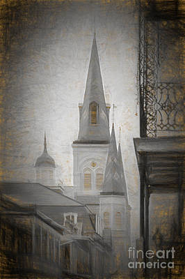 Photograph - St. Louis Cathedral From Chartres St. - Nola by Kathleen K Parker