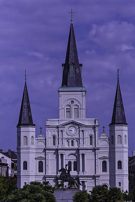 St Louis Square Photograph - St. Louis Cathedral by Garry Gay