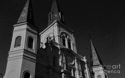 St. Louis Cathedral In Black And White Art Print by John Giardina