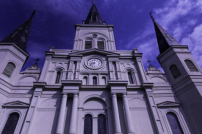 St Louis Square Photograph - St. Louis Cathedral New Orleans by Garry Gay
