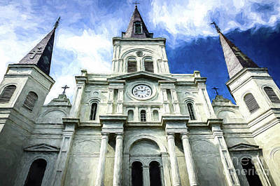 Photograph - St. Louis Cathedral - Nola- Art by Kathleen K Parker
