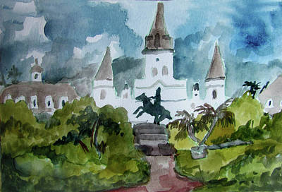 St. Louis Cathedral On A Cloudy Morning Original by James Huntley