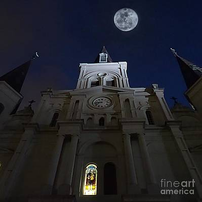 Photograph - St. Louis Cathedral  by Paul Wilford