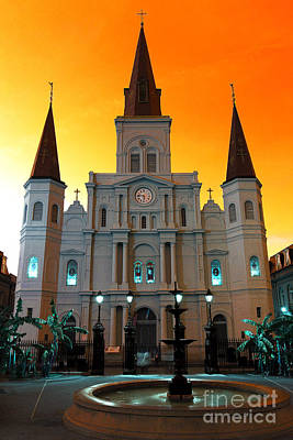 Photograph - St. Louis Cathedral Pop Art by John Rizzuto