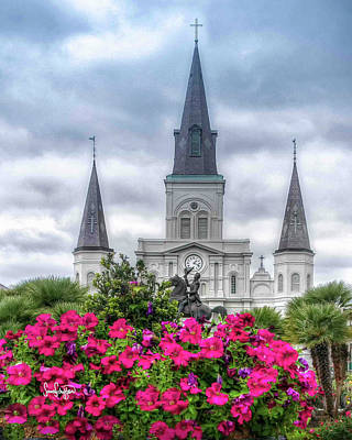 Photograph - St. Louis Cathedral by Sandra Schiffner
