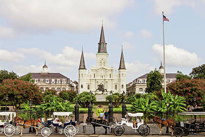 South Louisiana Photograph - St. Louis Cathedral by Scott Pellegrin