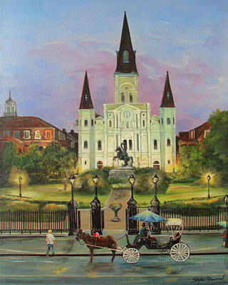 Saint Louis Artist Painting - St. Louis Cathedral by Stephen Broussard