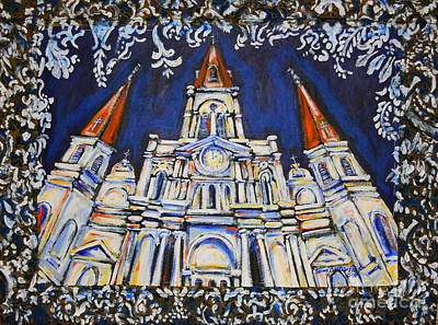 Saint Louis Mixed Media - St. Louis Cathedral Tapestry by Tami Curtis