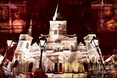 Digital Art - St. Louis Cathedral Traditions by John Rizzuto