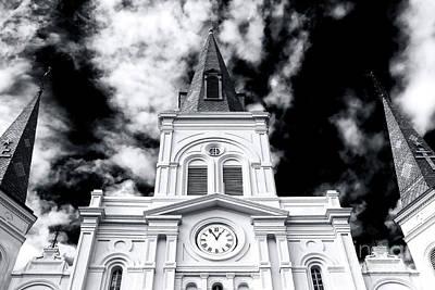 St. Louis Cathedral View Art Print by John Rizzuto