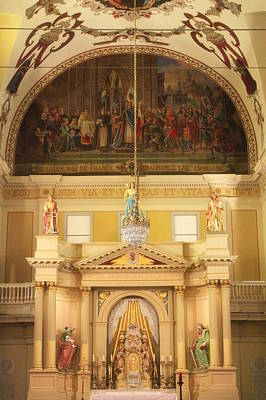 Cathedral-basilica Of St. Louis King Of France Photograph - St. Louis Cathedral's Beautiful Altar  by Anita Hiltz
