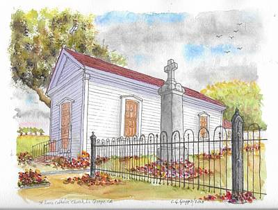 St. Louis Catholic Church, La Grange, California Art Print