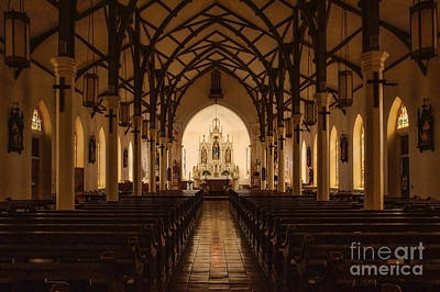 St. Louis Catholic Church Of Castroville Texas Art Print