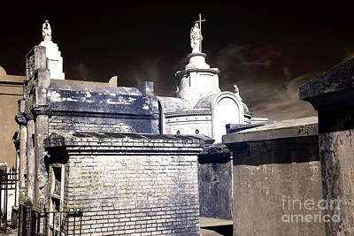 St. Louis Cemetery No. 1 Infrared Print by John Rizzuto