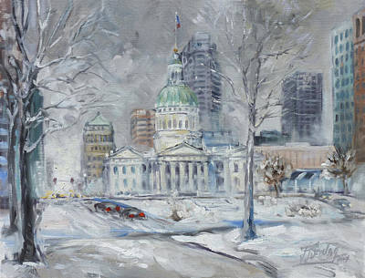 Painting - St. Louis Downtown Old Courthouse by Irek Szelag