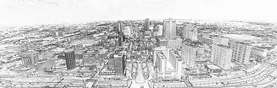 Photograph - St. Louis From The Arch 2016 Sketch by C H Apperson