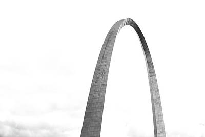 Photograph - St. Louis Gateway Arch Bnw 9581 by David Haskett II
