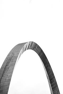 Photograph - St. Louis Gateway Arch Bnw 9585 by David Haskett II