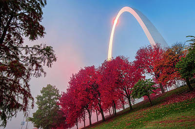 Autumn Photograph - St. Louis In Red by Gregory Ballos