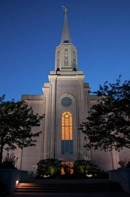 Photograph - St. Louis Lds Temple by Steve Stuller