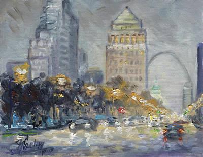 Painting - St. Louis Market Street by Irek Szelag
