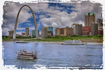 Photograph - St Louis Missouri River Front With Border 7r2_dsc9364_06182017-hdr1569  by Greg Kluempers