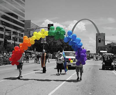 Photograph - St Louis Pride Parade by C H Apperson