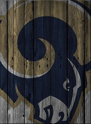Photograph - St Louis Rams Wood Fence by Joe Hamilton