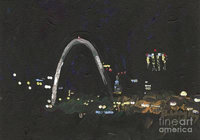 St. Louis Riverfront 1 Art Print by Helena M Langley