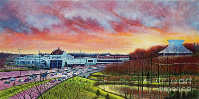 Painting - St. Louis Science Center And The Planetarium by Michael Frank