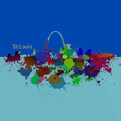Skyline Digital Art - St. Louis Skyline. 3 by Alberto RuiZ