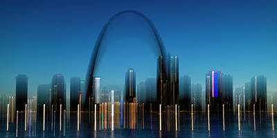 Photograph - St Louis Skyline And The Gateway Arch by Garry McMichael